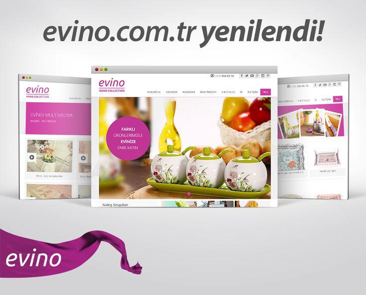 Evino Yenilendi!  Evino ürünleri, kataloglar, reklam filmleri ve daha fazlası için yenilenen yüzümüzle sizi www.evino.com.tr'ye bekliyoruz :)