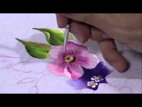 Mulher.com 25/04/2013 Fátima Hespanholeto - Pintura em tecido camiseta Parte 2 - YouTube