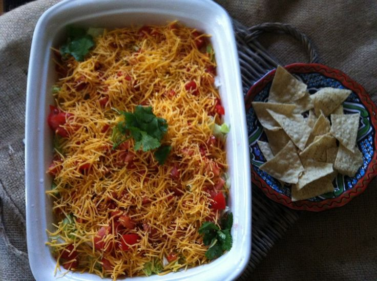 Skinny Seven Layer Dip: make this for the Super Bowl and it will be gone in no time!