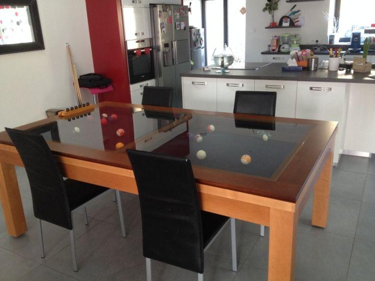 billard table design plateau verre neo
