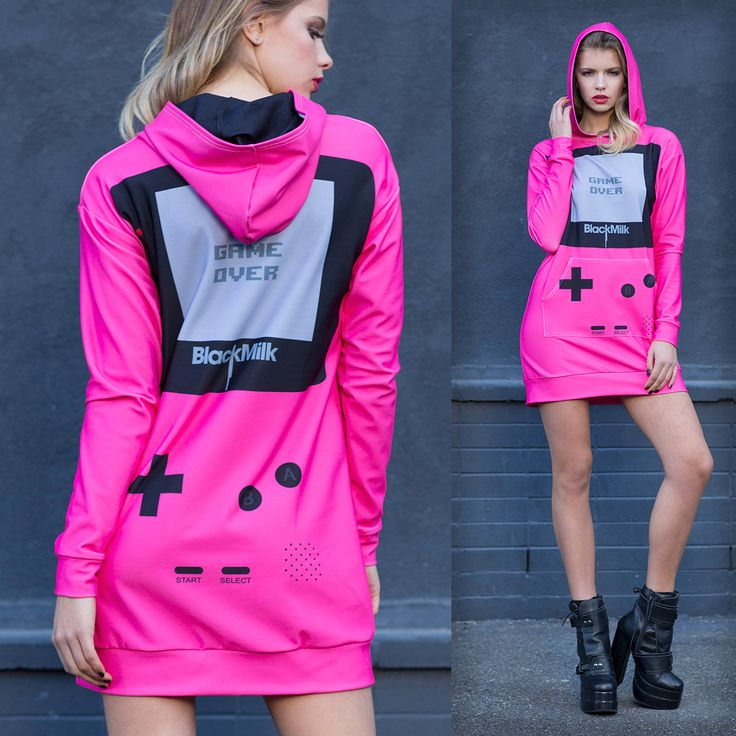 Gamer Pink Slouchy - LIMITED (WW $150AUD / US $120USD) by Black Milk Clothing