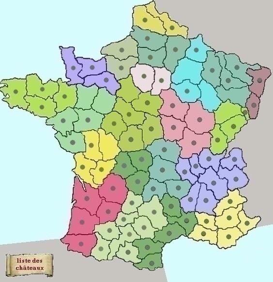 * Pour visiter les châteaux forts d'un département, cliquez sur celui-ci dans la carte. * La liste complète des ruines et châteaux forts de ce blog est accessible dans le parchemin. * La liste des départements Français est visible sous cette carte. Cliquez...
