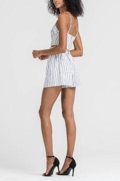 Lush Clothing  Striped Belted Shorts - Alternate List Image
