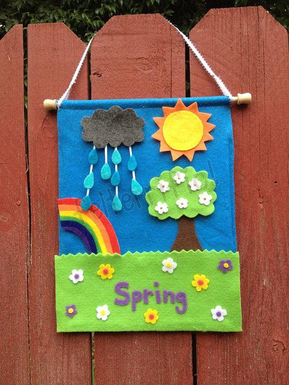 Handmade Felt Interactive Weather/Seasons Calendar by felterrific, $24.00