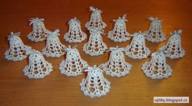 Háčkované Vánoce - zvonečky - návod