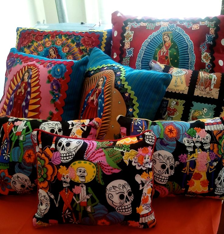 Assorted colorful  pillows