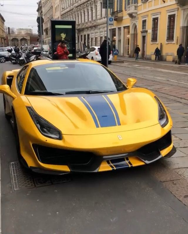 An All New Ferrari 488 Pista Spider Spec D In Yellow With A Thick