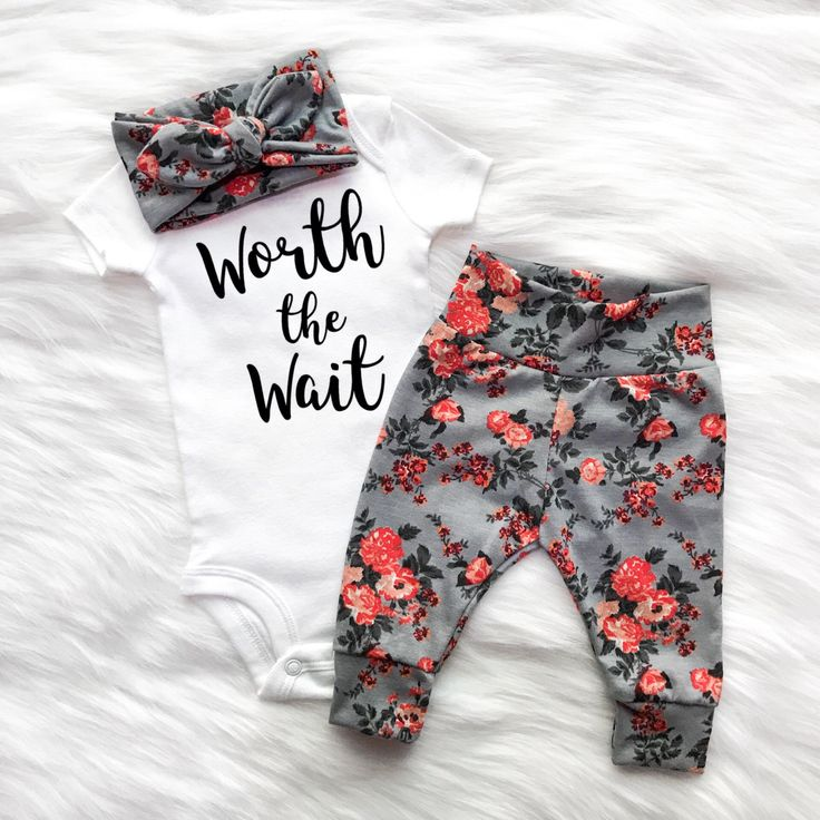 gift for new baby girl, worth the wait, adopted baby girl gift, IVF baby, IUI baby girl, infertility baby girl, girls first outfit by EatSleepDrool on Etsy