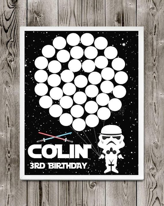 Star Wars birthday party guest book by FUNtasticDesign on Etsy