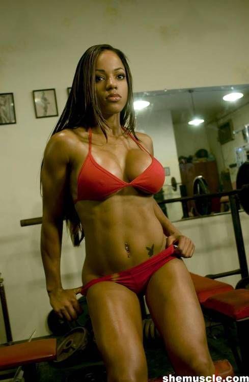 Muscular Ebony 68