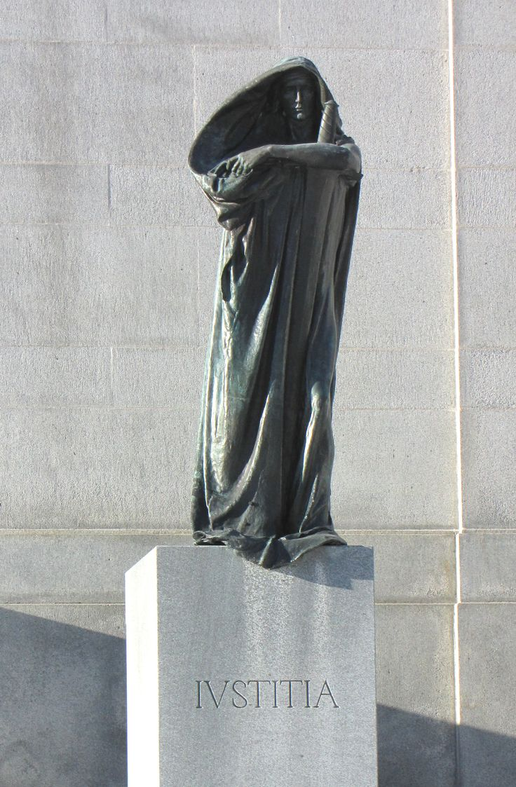 Statue of Justicia (Justice), by Walter Seymour Allward, outside Supreme Court of Canada, Ottawa, Ontario,
