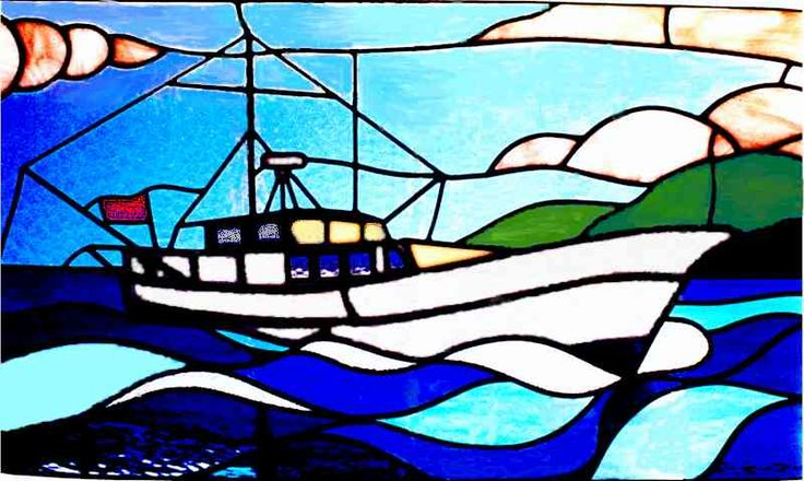 279 Best Stained Glass Bateaux Images On Pinterest