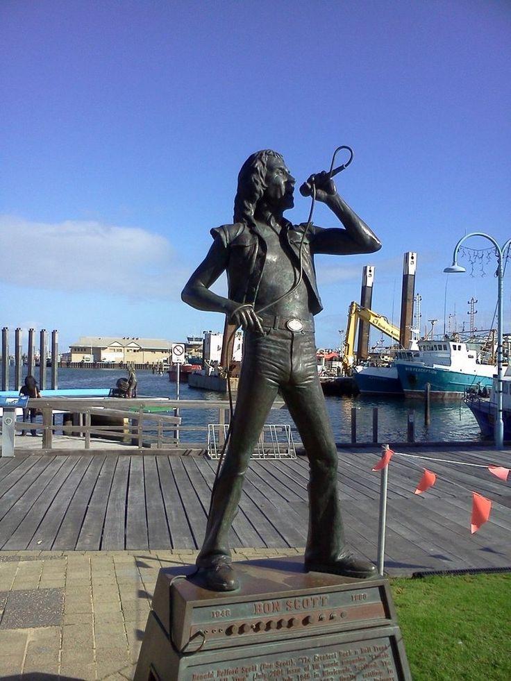 Bon Scott statue ~ Fremantle, Western Australia