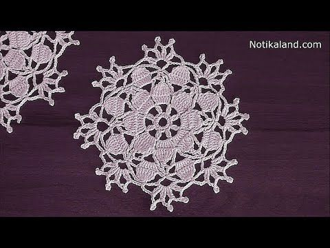 Crochet flower motif tutorial - YouTube