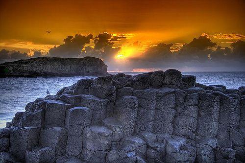Cook IslandPhotos, Food Recipes, Cook Islands, Cooking Islands, Sunris Photography, Northern Ireland, Winter Solstice, Giants Causeway, Rocks