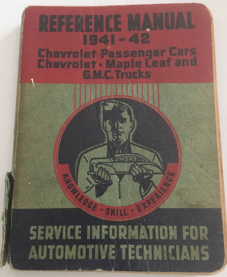1941-1942 Reference Manual Chevrolet Passenger Cars, Maple Leaf and GMC Trucks by ChezShirlianne on Etsy