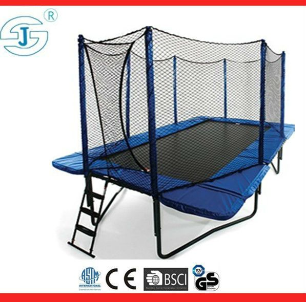 2013 New square trampoline with basketball for cheap sale $400~$450