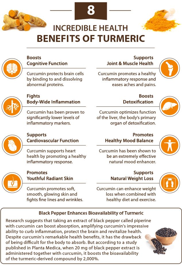 Curcumin is the active ingredient in turmeric and responsible for its golden color, but it is not readily absorbed by the body. Once ingested, most of the curcumin gets quickly metabolized before it can get absorbed. Piperine (the heat in black pepper) helps make curcumin more bio-available as it temporarily slows the liver from removing it from the blood.