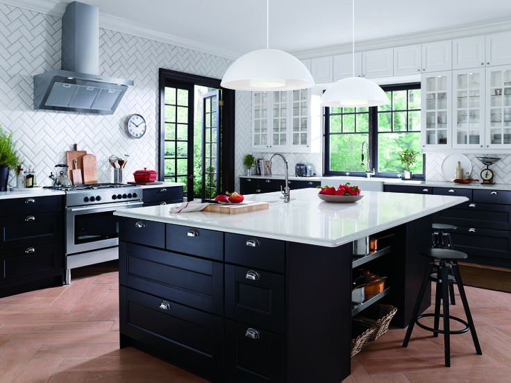 mixing dark and light another view of the white lidingo black ramsjo ikea kitchen