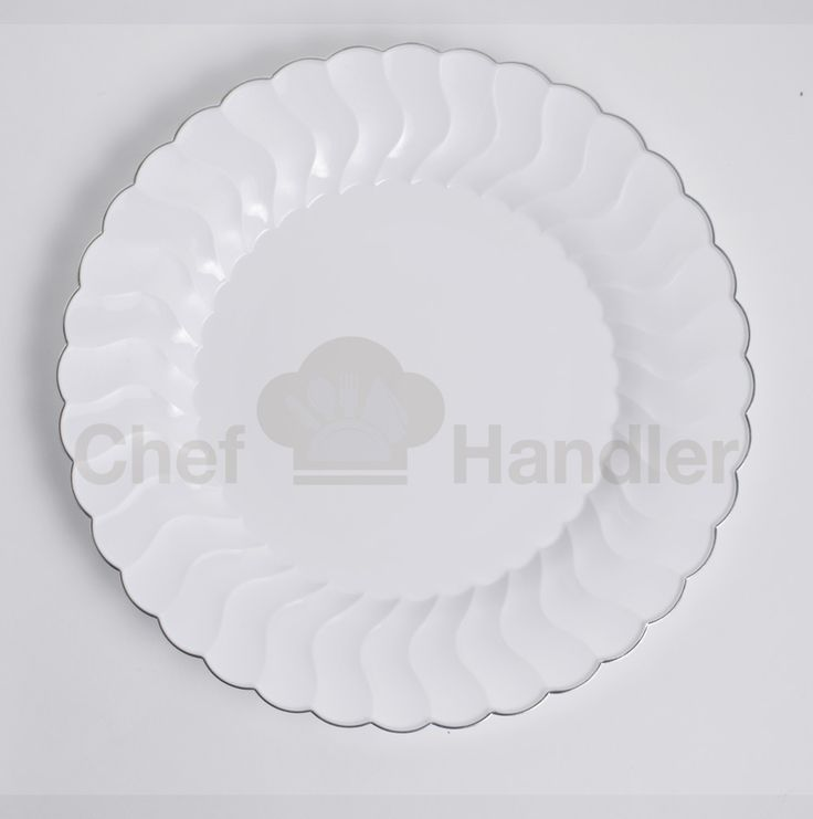 ... People Contain It Features A Playful Silver Colored Accent Band That  Traces The Sculpted Rim For An Eye Catching Design. This Uniquely Edged  Plate Is A ...