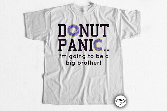 Clothing  Unisex Kids' Clothing  Big Brother Shirt  Big Brother  Announcement  big brother t shirt  big brother outfit big brother to be  big brother tee  big bro shirt  donut panic  donut toddler shirt  unique big brother  donut big brother donut kids shirt