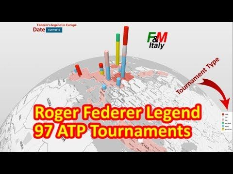 🏆 97 20GER #1 ➖ ROGER FEDERER LEGEND: 97 ATP Titles 'All Over The World'...