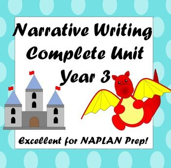 Narrative Writing Complete Unit Year 3 ****Excellent NAPLAN Prep**** This pack includes a four page unit plan and all resources to go with it....prompts, checklists, activities, posters and more.