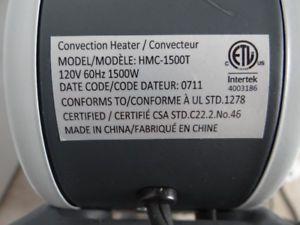 Chaufferette de type convecteur Branchable