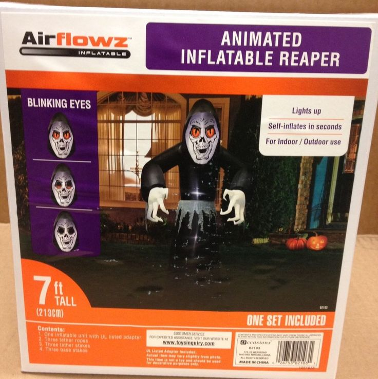 Animated Blinking Eyes Grim Reaper Airblown Inflatable Halloween Yard Prop Decor