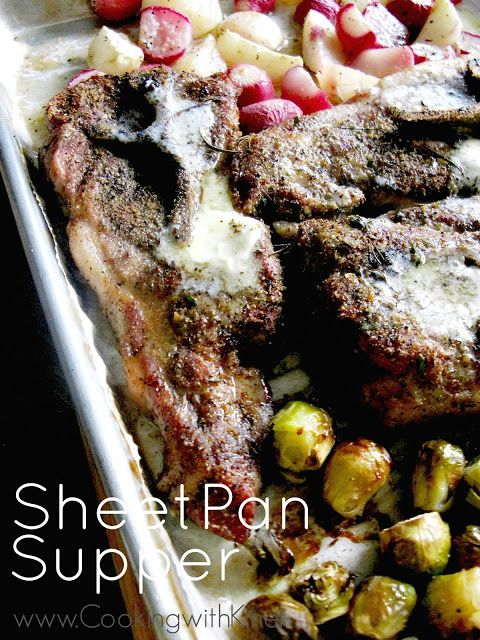 Cooking with K: Sheet Pan Supper - Country Pork Ribs, Radishes, Turnips, and…