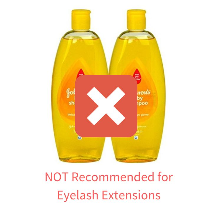 how to clean eyelash extensions with baby shampoo