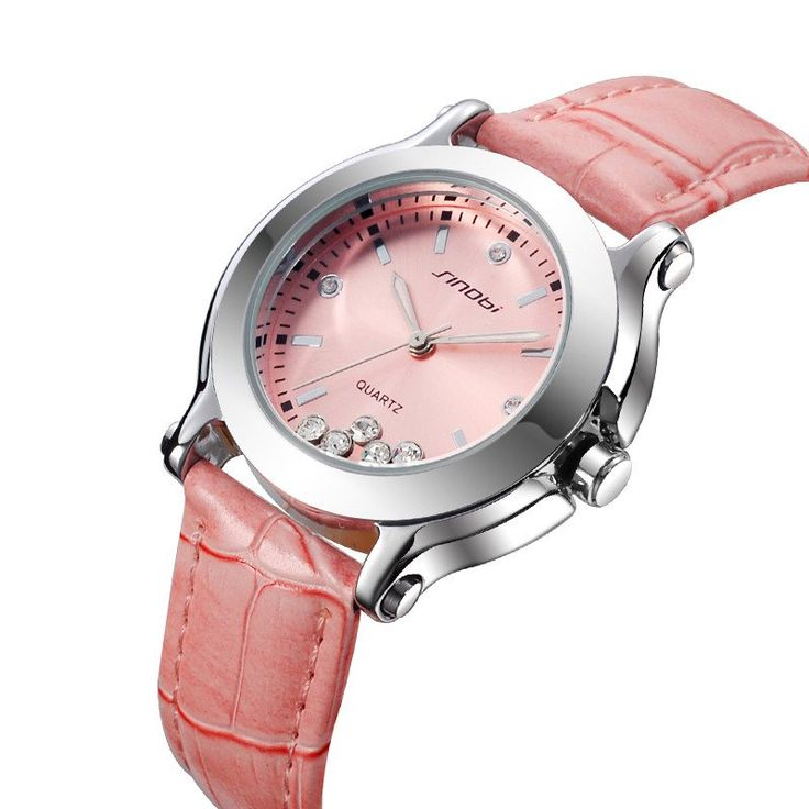 SINOBI Women's Watches Leather Wristband Dress Watches Ladies Luxury Casual Quartz Watch Relogio Feminino Female Rhinestone