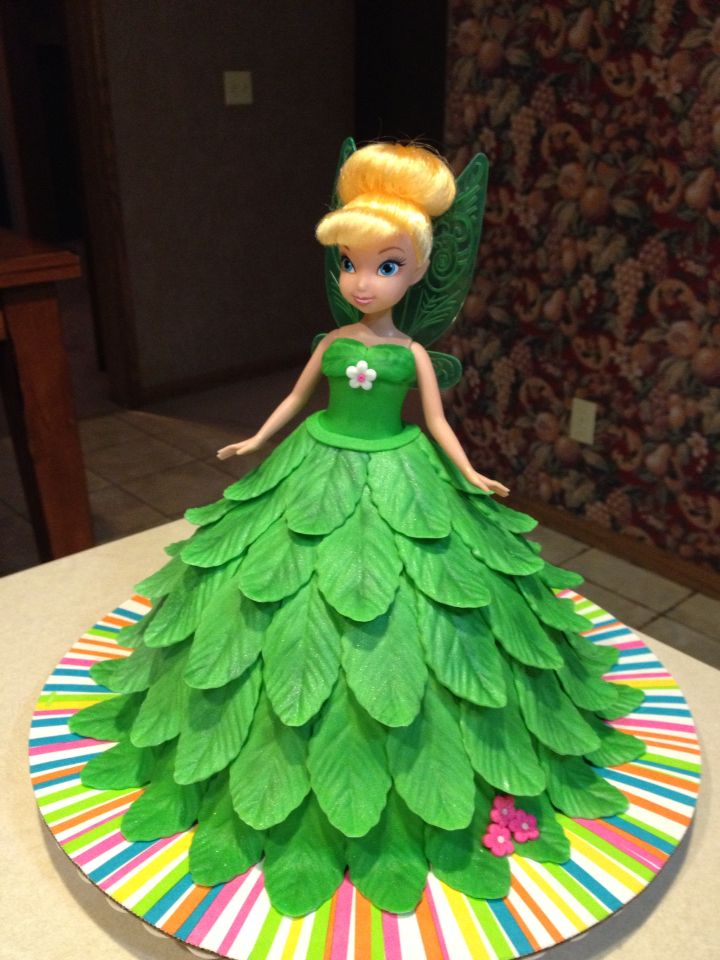 Tinker Bell Fairy cake. This was a spectacular way to reveal a surprise trip to Disney World!