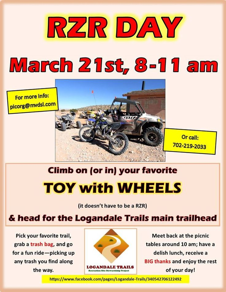 Check out the RZR Day in Logandale, NV this weekend