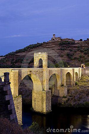 Roman bridge in Alcantara, Caceres, Extremadura - Spain