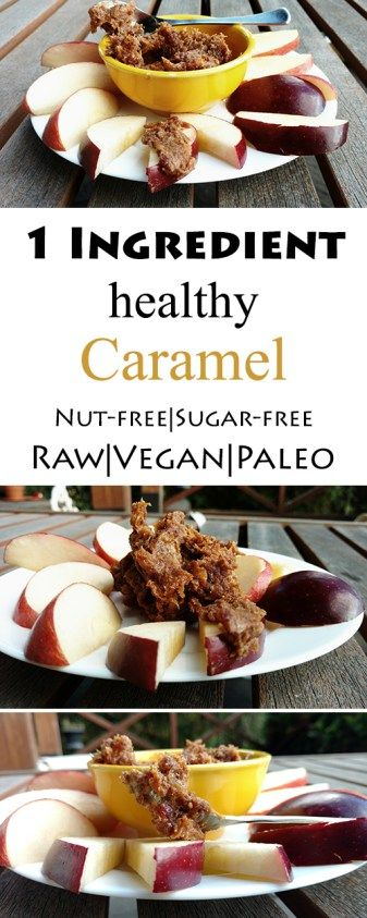 1 ingredient Caramel spread (raw, vegan, paleo, nut-free & sugar-free) made with all natural fruit!