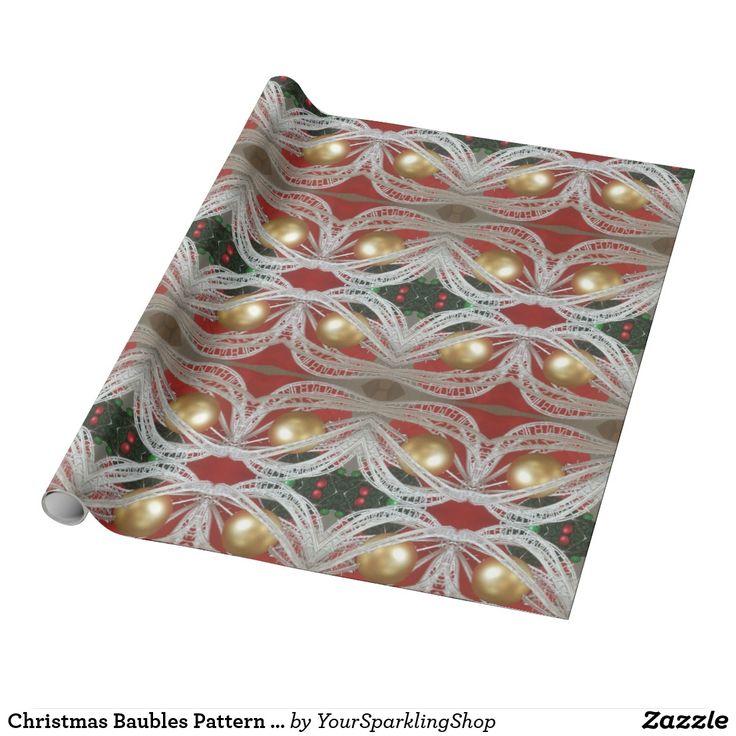 Christmas Baubles Pattern Decorative