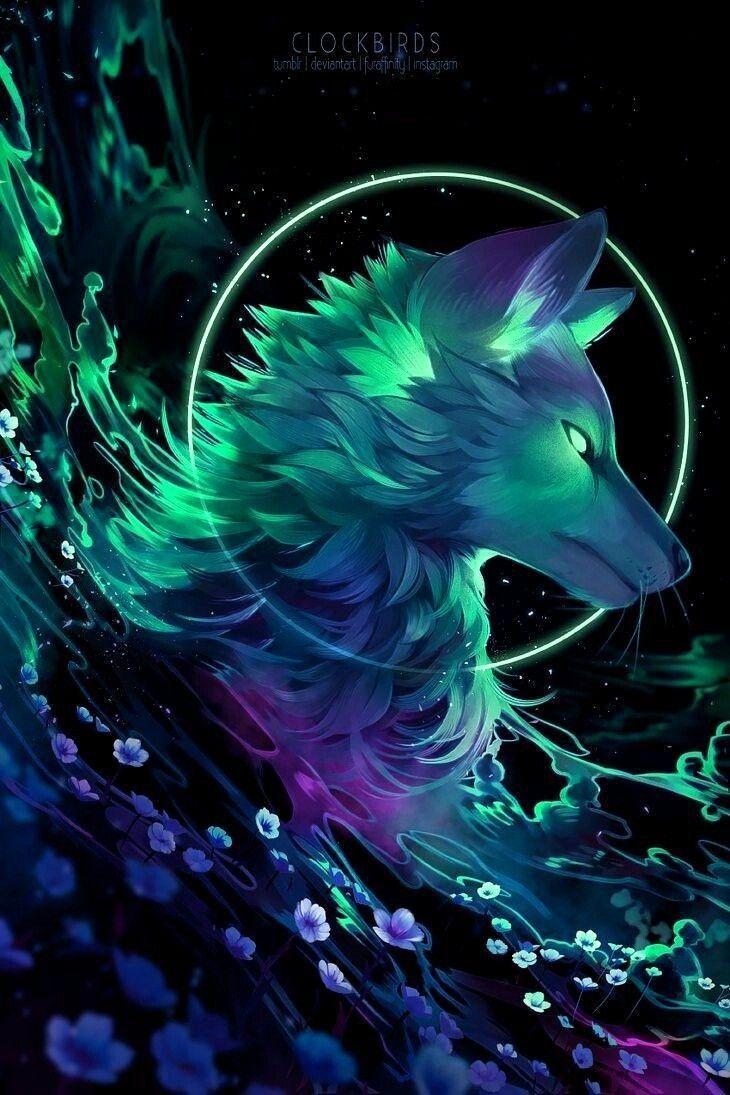 Pretty Wolf Art Fantasy Mythical Creatures Art Wolf Spirit Animal