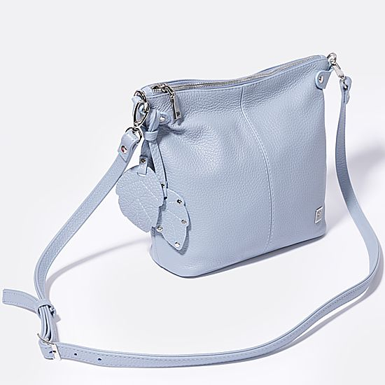 Голубая сумочка <b>кросс</b>-<b>боди</b> с кожаным декором Richet | <b>Сумки</b> ...