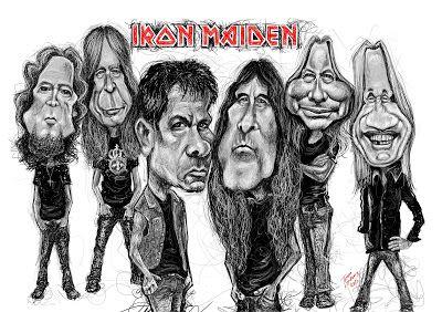Karikaturisti: Iron Maiden caricature