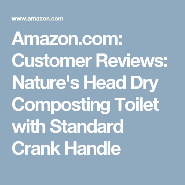 Nature S Head Dry Composting Toilet Standard Crank Handle