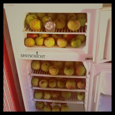 One apple a day ....and your staff will stay. Do you have a startup that serves food or do you order food via a startup? Would be interesting. By the way...we will also have nice snacks at the next Spätschicht.