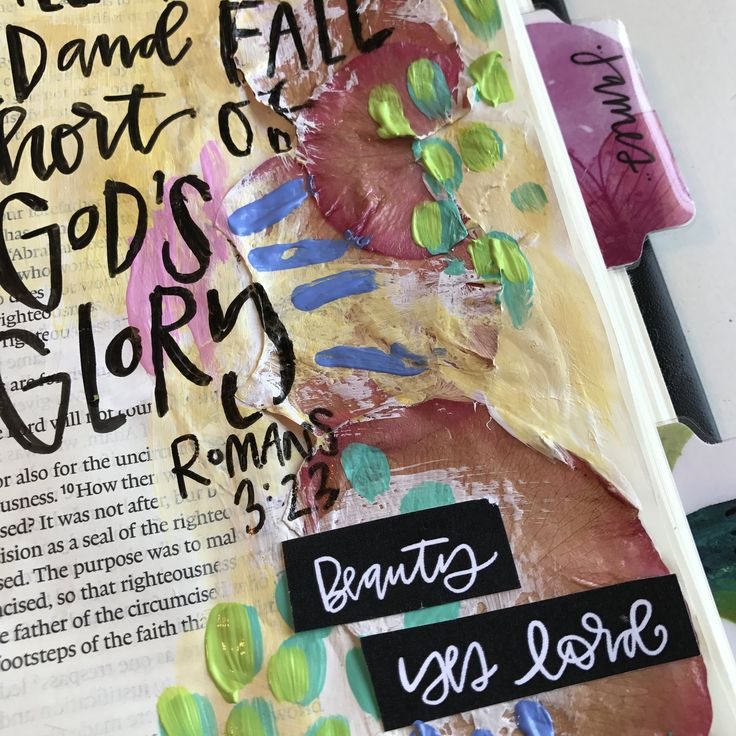 Floral Mixed media bible journaling page - video of my process. Valerie Wieners