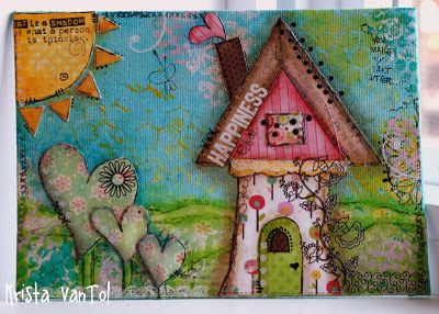 Crafty Little Pigtails: Mixed Media canvases...part 2! AND HAPPY NEW YEAR!!!!!!