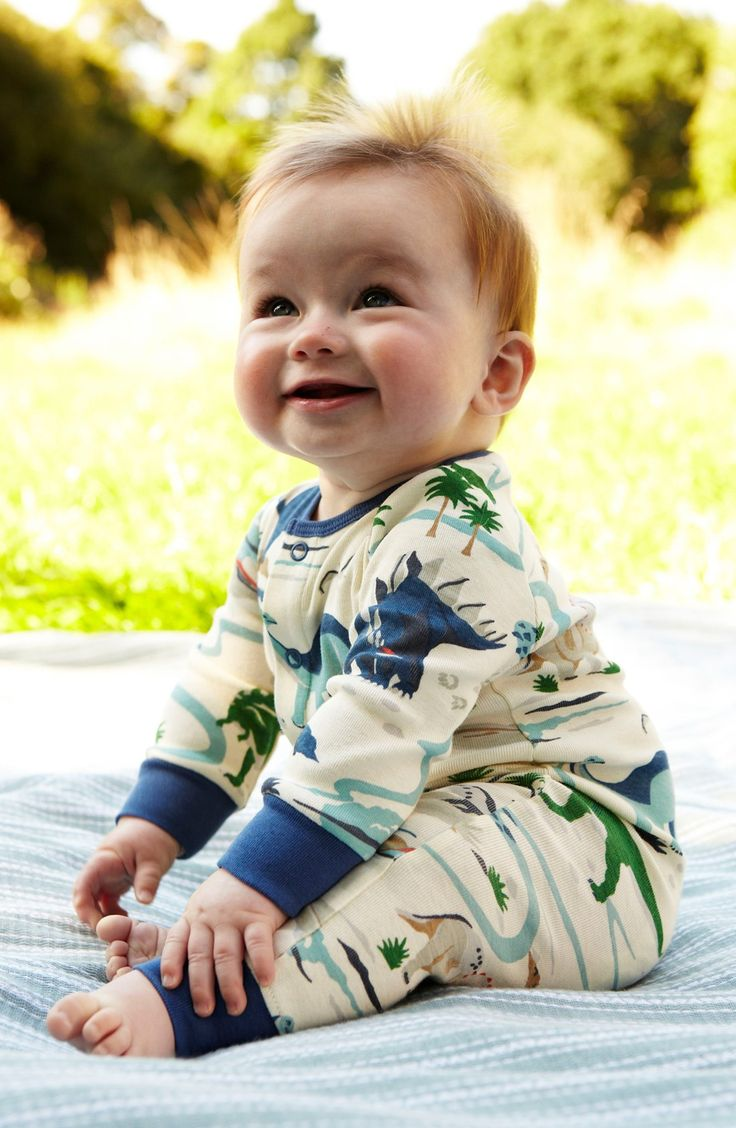 Adoring this dinosaur romper for the little boy while lounging at home.