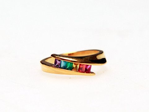 Rainbow Ring: These summer inspired ring is great for adding glamorous colour to a daily look.  $25.00