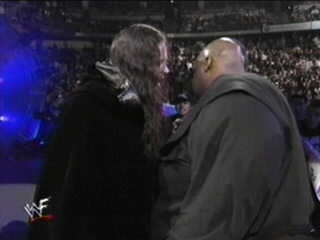 """Undertaker stares at Mabel, From """"WWF Royal Rumble"""" in January 24th, 1999"""
