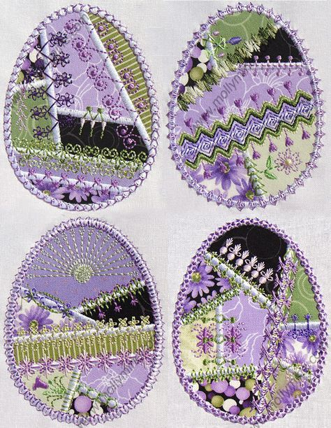 Easter | Quilt | Crazy Quilt | Embroidery | Egg