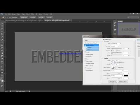 Photoshop Tutorial effects carved effect
