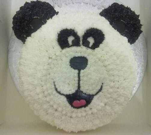 Panda Bear buttercream frosted cake decorated by Coast Cakes Ltd